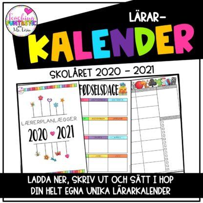 Lärarkalender svenska 2020 2021