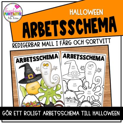 Arbetsschema Halloween tema