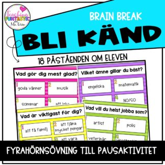 Brain Break Bli Känd