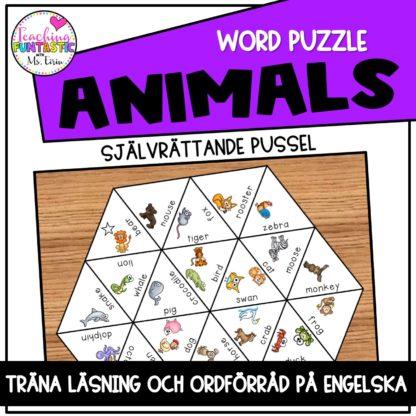 Pussel engelska djur