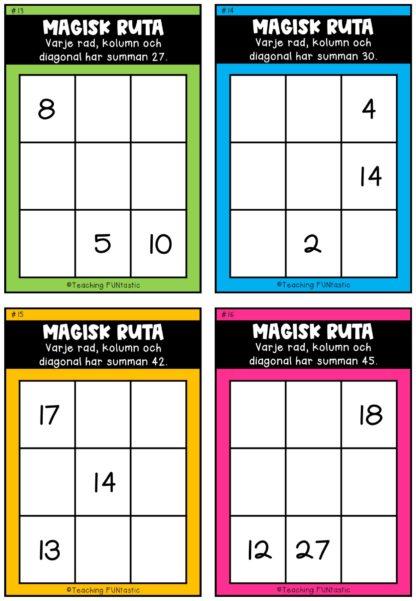 magiska kvadrater