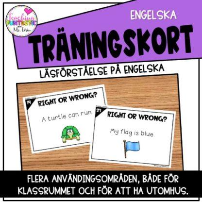 uppgiftskort engelska