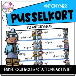 Pusselkort Antonymer