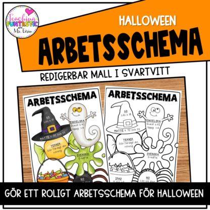 Halloween arbetsschema